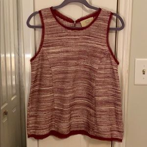 Anthropologie Red Striped Tank Top